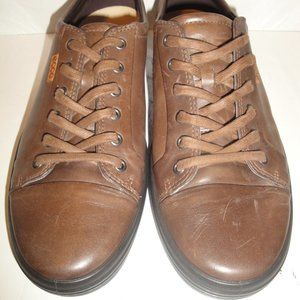 Ecco Brown Leather Sneaker